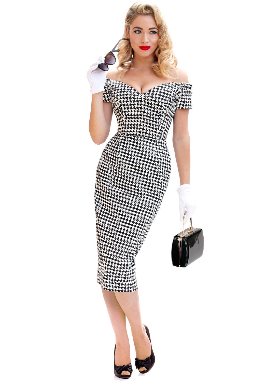Rhonda's Revenge Vintage Houndstooth 50s Pencil Dress ...