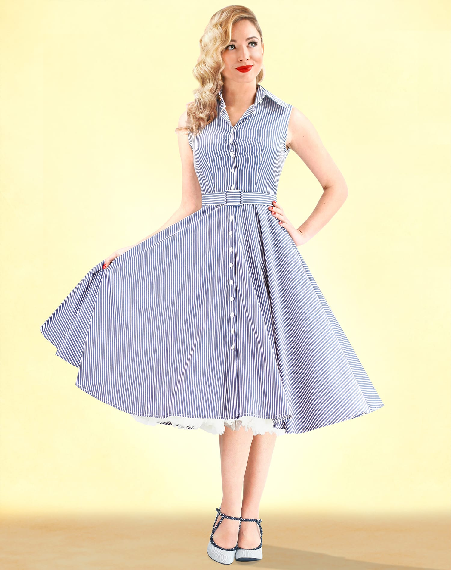 British Retro - 50s swing dresses, 1950s dresses, unique retro clothing, pencil dresses, swing skirts