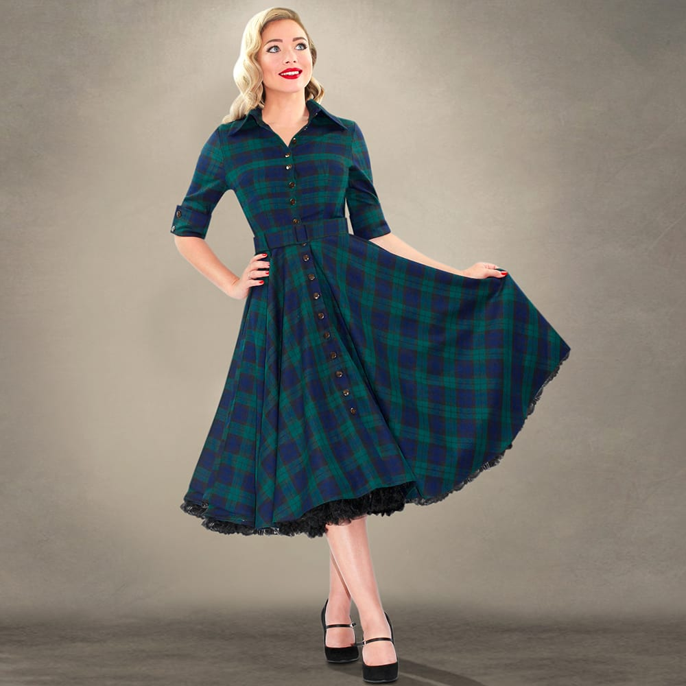 Britsh Retro 50s Style Swing Dress