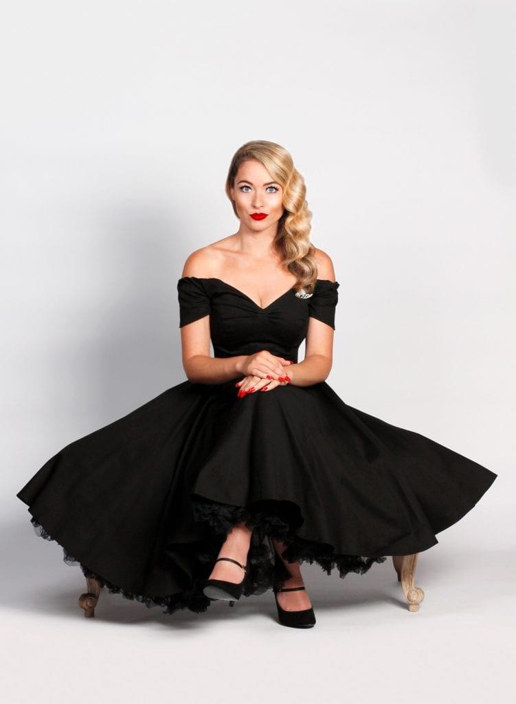 British Retro - swing party dresses, swing dresses, 50s dresses, vintage clothing, unique retro clothing