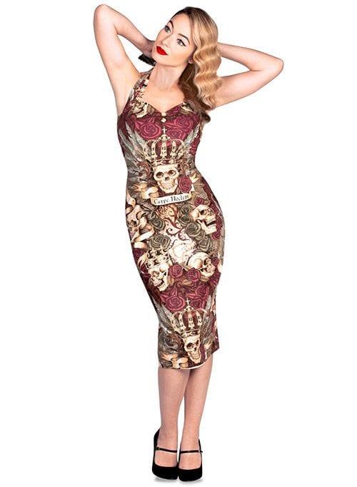 British Retro - pencil dress