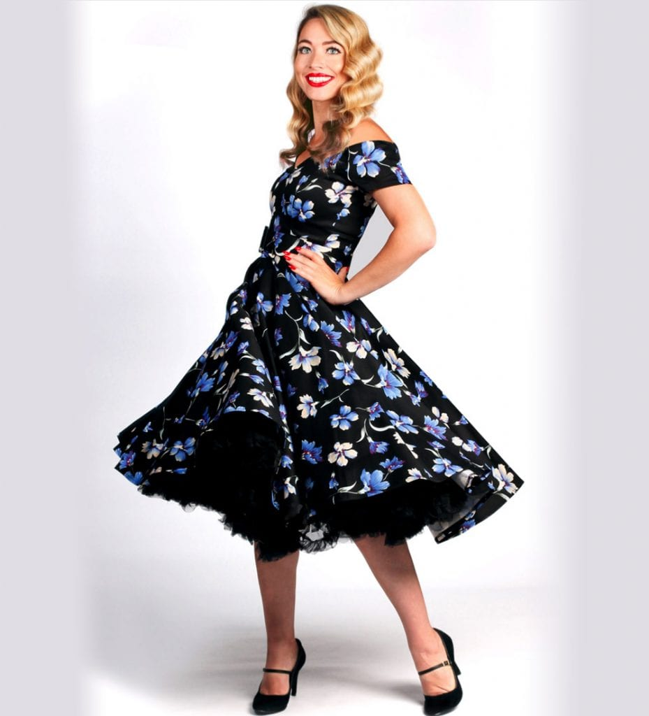 British Retro - 50s swing dress, wiggle dresses, swing party dresses, swing dresses, 1950s dresses