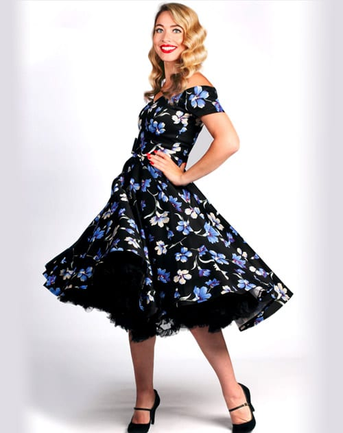 British Retro - 50s swing dress, wiggle dresses, swing party dresses, swing dresses, 1950s dresses
