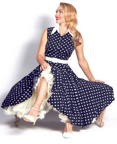 Britsh Retro Vintage Polka Dots and Moonbeams