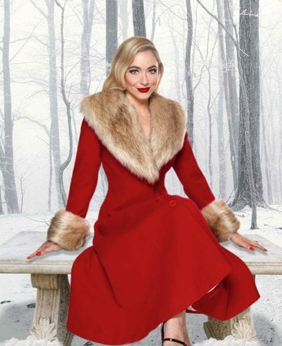 Britsh Retro Vintage Walking after midnight - Wonderland coat, Winter coat, glamourous vintage coats, 1950s vintage coats, Retro Winter Coats