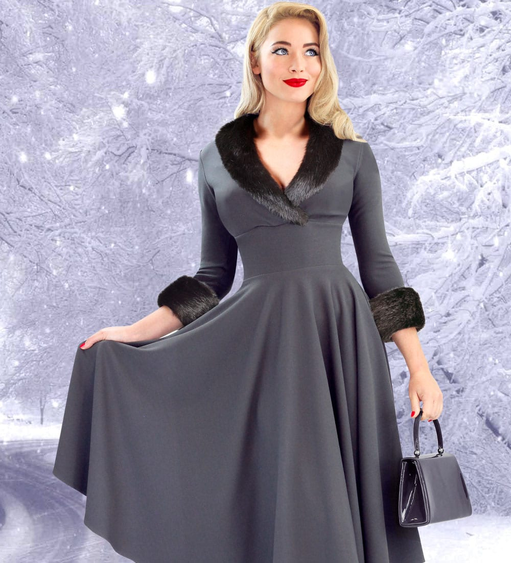 British Retro - 50s inspired winter swing dresses
