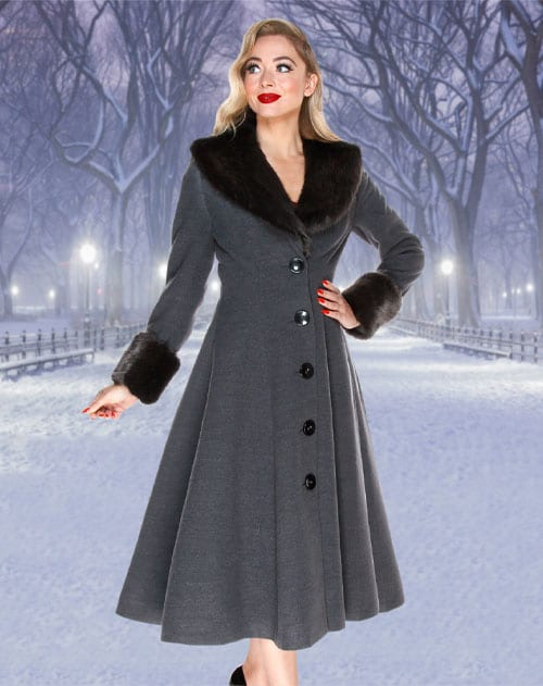 British Retro - 1950s vintage glamour evening coat