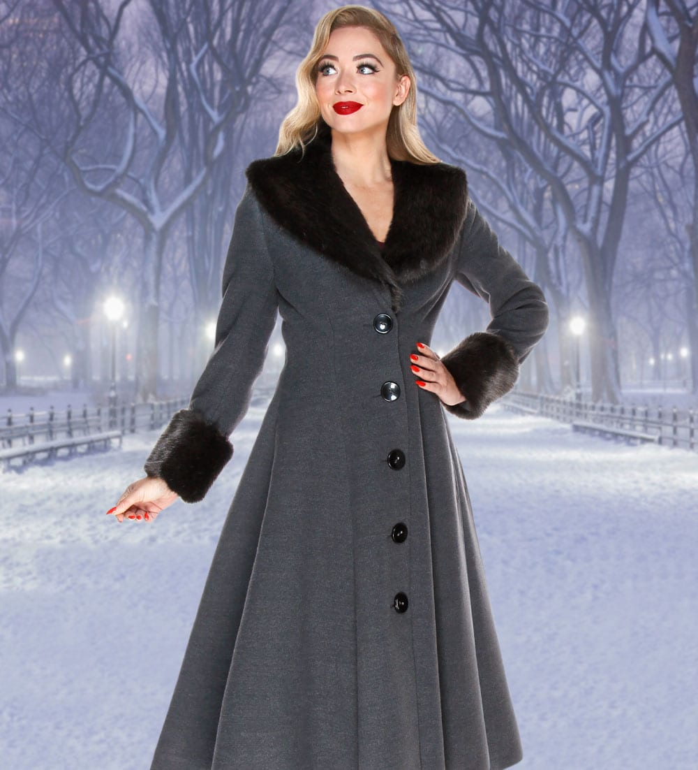 British Retro - Wonderland - 1950s evening coat and full of vintage glamour