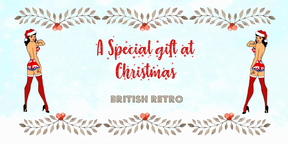 British Retro Christmas Gift Voucher