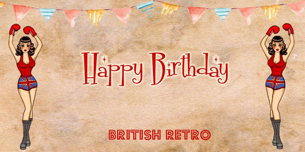 British Retro Happy Birthday Gift Voucher