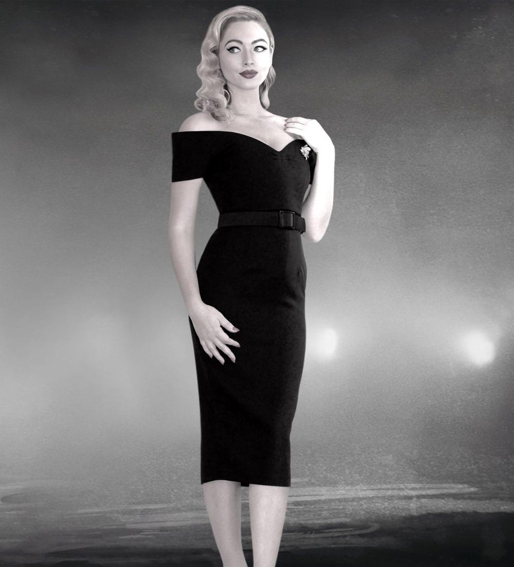British Retro vintage dresses - 50s style pencil dress, 50s style pencil, style pencil dress, rhonda's revenge, 50s style