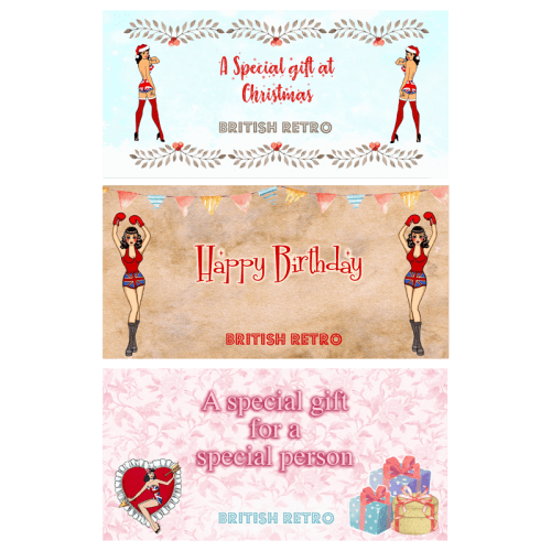 British Retro Gift Voucher