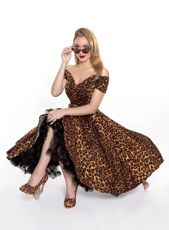 Dee Dee  Leopard Print 50s Style Full Circle Dress - British Retro ccdb3fc8f