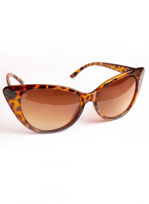 retro cat eye tortoise shell sunglasses