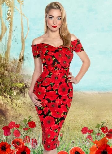 Britsh Retro Vintage Style - bodycon dress image - What a Sweetheart!