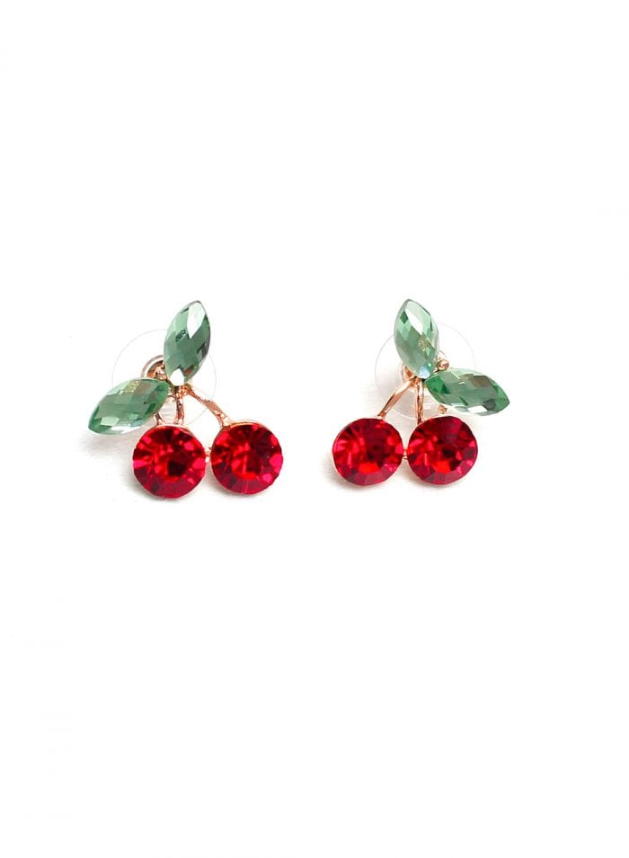 retro cherry earrings