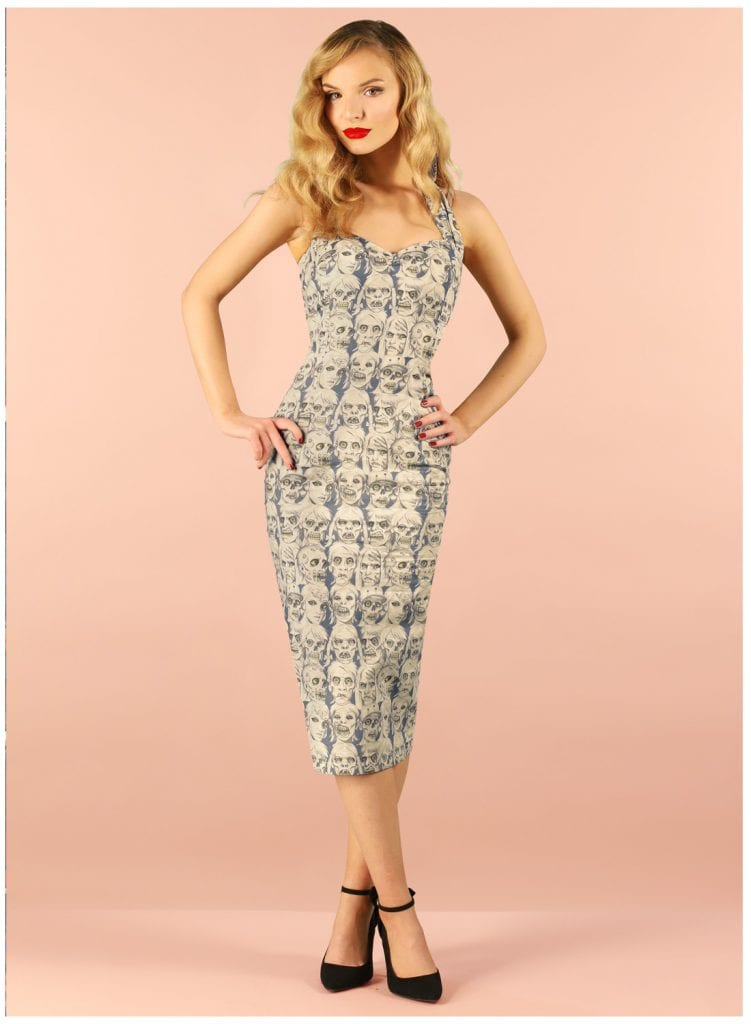 British Retro Vintage Dresses - Staying Alive pencil dress
