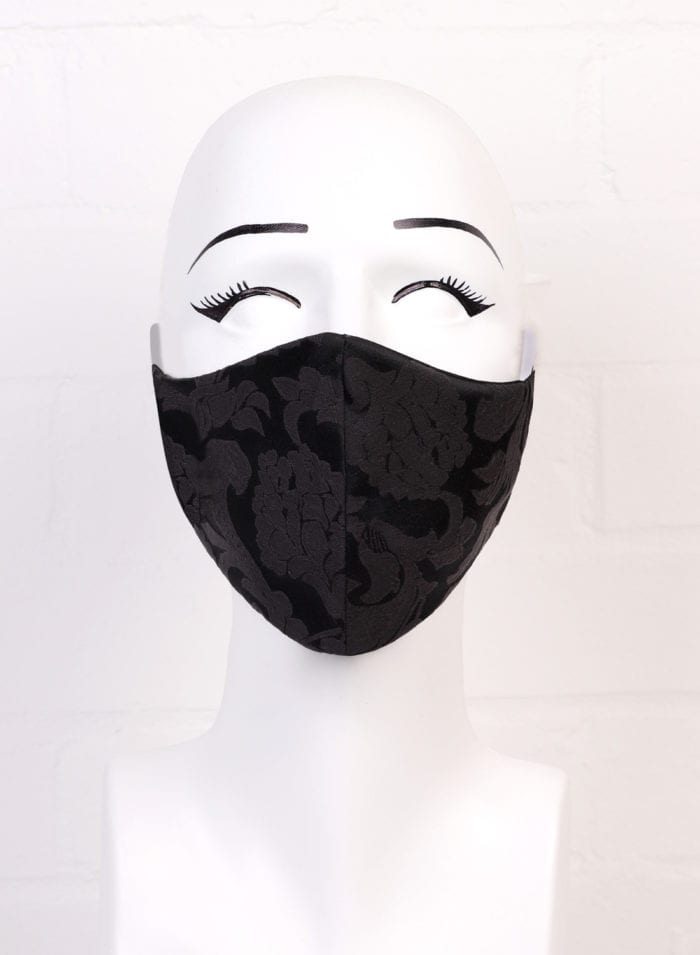 Black Jacquard Mask