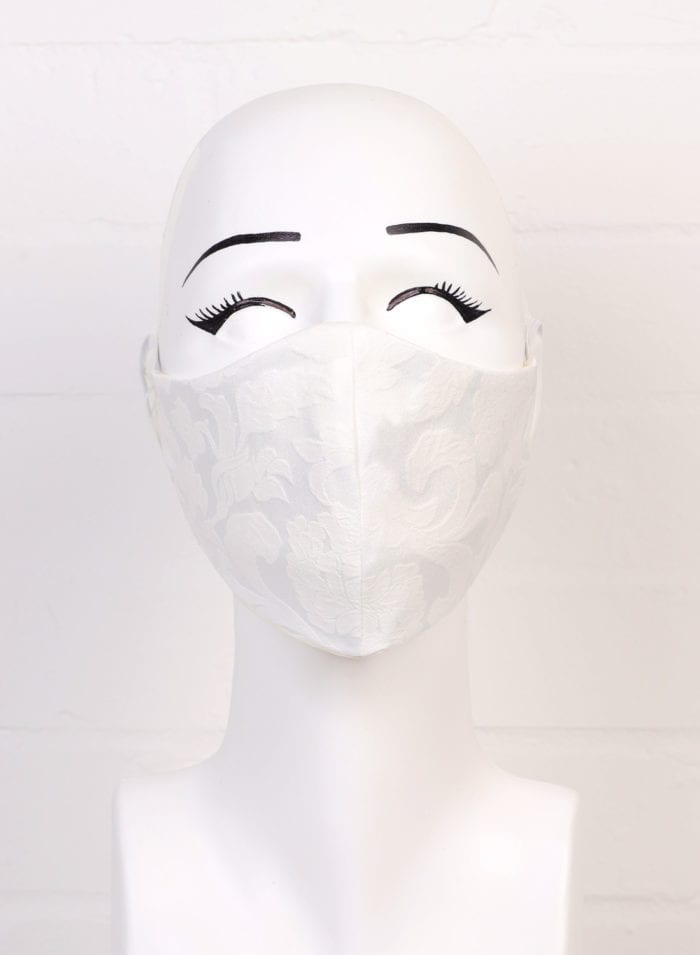 White Jacquard Mask