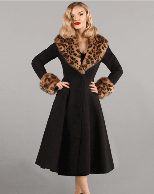 British Retro Vintage Fashion - Wonderland Coat Black