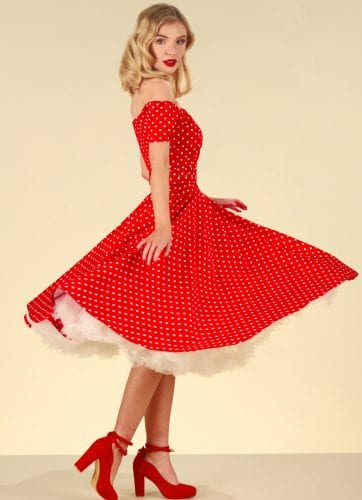 British Retro - 50's style dress - Be naughty, look nice