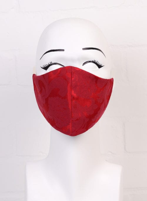 Red Jacquard mask